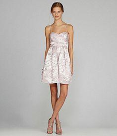 Eliza J Brocade Sweetheart Dress - My dress for edens wedding