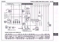 18+ Toyota 4Age Engine Wiring Diagram - Engine Diagram - Wiringg.net Toyota Mr2, Toyota Corolla, Electrical Wiring Diagram, Daihatsu, Tear Down, Boat Plans, Engineering, Wire, 18th