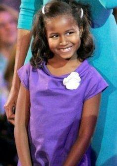 1st Daughter Sasha Obama... So Cute....