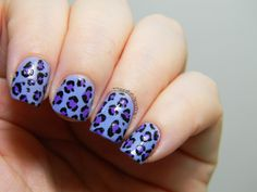Toxic Vanity: Día 13: Estampado Animal / Leopardo lila nail art