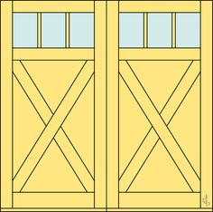 Doors on pinterest barn doors garage doors and sliding for 9 lite crossbuck exterior door