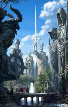 Image from fantasy and syfy. Fantasy Artwork, Fantasy Concept Art, Dark Fantasy, Elves Fantasy, Fantasy Places, Fantasy World, Fantasy City Names, Fantasy Life, Fantasy Kunst