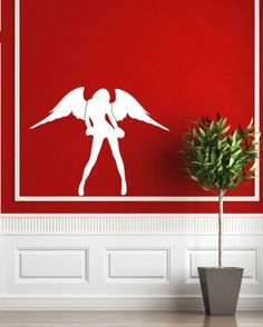 Housewares Vinyl Decal Slim Girl With Wings Angel Fashion Home Wall Art Decor Removable Stylish Sticker Mural Unique Design for Any Room Decal House http://www.amazon.com/dp/B00G24SR8A/ref=cm_sw_r_pi_dp_2ZXUtb10DJTMA030