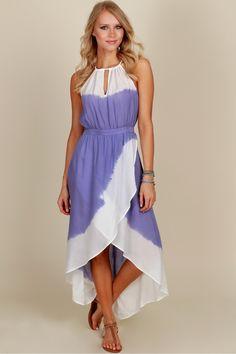 Crashing Waves Tie Dye Dress Multi