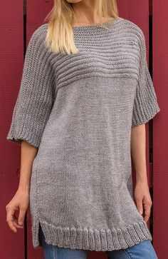 Free Knitting Pattern for Big Comfy Sweater