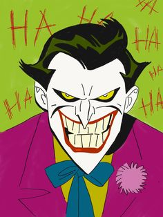 The Joker's Maniacal Face – Animation ideas Joker Cartoon, Joker Batman, Joker Dc Comics, Joker Art, Batman Art, Joker Poster, Joker Drawings, Cartoon Drawings, Hahaha Joker