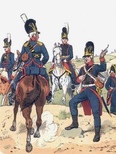 Cannonieri e ufficiali dell'artiglieria bavarese