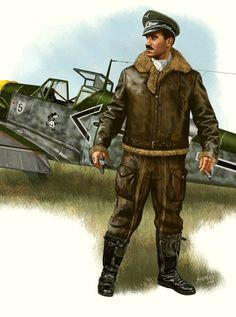 La Pintura y la Guerra. Sursumkorda in memoriam Luftwaffe, Paratrooper, Ww2 Aircraft, Military Aircraft, Adolf Galland, Airplane Pilot, Ww2 Planes, Battle Of Britain, Fighter Pilot