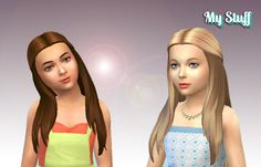 Lana CC Finds - Innovation Hair for Girls by Kiara24