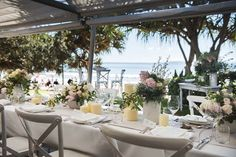 Sails is the only Noosa beachfront wedding venue of its kind, offering a private grassed patio with panoramic beach views over Noosa Beach. View our Noosa Beach Wedding gallery for inspiration and examples of what's possible at Sails. Beach Theme Wedding Invitations, Beach Wedding Decorations, Beach Wedding Favors, Sunset Beach Weddings, Destination Wedding Locations, Wedding Venues, Beach Wedding Inspiration, Wedding Ideas, Wedding Themes