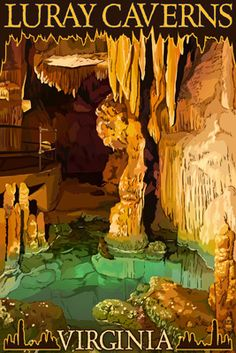 Luray Caverns, Virginia - Wishing Well - Lantern Press Poster