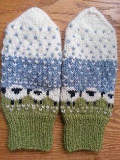 Ravelry: simplyplaying's Baa-ble Mittens Knitting Patterns, Crochet Patterns, Knitting Ideas, Gauntlet Gloves, Mittens Pattern, Slipper Boots, Knitted Gloves, Needlework, Knit Crochet