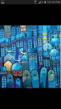 Turquoise,  Iraqi art