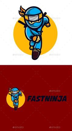 Cartoon Fast Ninja Character Mascot Logo - Humans Logo Templates Get it now!! #logo #designlogo #logos #logodesign #logopremium #brand #branding #business #company #abstract #creative #mascot #designoflogo #thelogo #thedesign #logotemplate #print #logocompany #logoesport #logoanimal #logoabstract #envato #envatomarket #graphicriver #premiumdesign #creativemarket #freepik #shutterstock #behance #dribbble