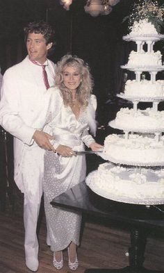 """Catherine Hickland & David Hasselhoff were married on March 24, 1984 & divorced on March 1, 1989. Their marriage got into the center of the Hollywood-Industry & so both could not make a difference between private live & career. Their marriage was also a part of a Knight Rider episode (""""The Scent of Roses"""" (Season 4). So all fans could see a personal event on TV."""