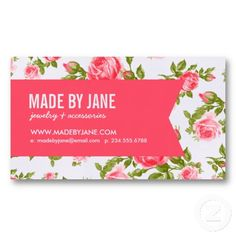 Floral business card template reheart Gallery