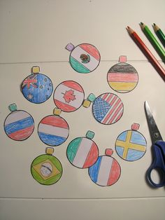Christmas flag baubles and activities.