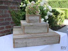 Rustic Wedding Cupcake Cake Stand 3 Tier by RusticWishesCo on Etsy