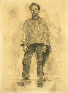 The Fisherman - James Ensor 1880 Belgian Charcoal on paper Pablo Picasso, Drawing Sketches, Drawings, Printmaking, Modern Art, Fine Art, Prints, Painting, Charcoal