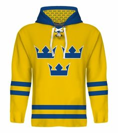 NEW 2015 #Sweden #Hockey World Cup #Hoodie Jersey NHL Backstrom Sedin Zetterberg