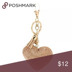 COMING SOON - Bling Heart Keychain Brand new! Insanely cute!! The whole thing measures 6 inches long & the heart is 2 inches wide. Accessories Key & Card Holders