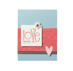 Valentine Love You Much Card - Stampin' Up with Mimi Henwood