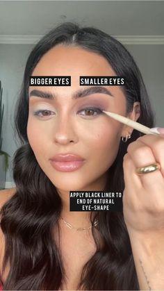 Cute Makeup, Glam Makeup, Pretty Makeup, Beauty Makeup, Eyebrow Makeup, Skin Makeup, Eyeliner, Eye Makeup Tips, Makeup Ideas