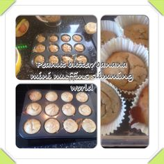 Mini muffins so easy to do on slimming world I have worked them out at 1 1/2 syns each... Just need to blend a medium banana, peanut butter, 1egg, honey, pinch of salt, pinch of bicarbonate soda! Easy then bake in the oven for 8 mins to get delicious mini muffin treats!! Yum