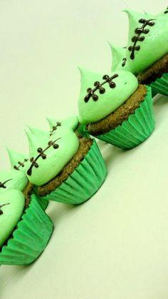 Zombie/Monster cupcakes