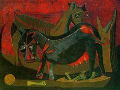 Rufino Tamayo (1899 - 1991) uno de los grandes pintores mexicanos. - Perra rabiosa.