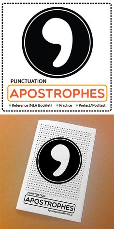 Punctuation: Apostrophe Reference Booklet (MLA), Practice, and Pretest/ Posttest. Great practice for writing assignments, SAT, ACT. (7-12). $