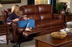 Photo of CatNapper Buckingham Dual Reclining Sofa (Living Room Furniture, Sofa, Sectional Sofa, Leather Sofa, Leather Sofas, Microfiber Sofas, Fabric Sofas)