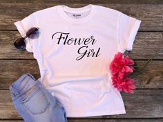 This item is unavailable Girls Tees, Shirts For Girls, Football Fan Shirts, Junior Bridesmaid Gifts, Flower Girl Shirts, Toy Story Shirt, Auntie Gifts, Disney Vacation Shirts, Game Day Shirts