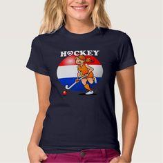 Dutch women's field hockey team t-shirt #Zazzle #Cardvibes #Tekenaartje