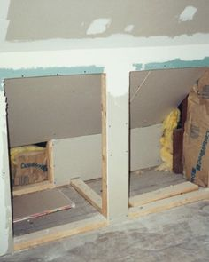 """Not sure our built ins could be recessed- if they could, I would want them to be! See+the+""""Before:+Attic""""+in+our+Home+Tour:+Farmhouse+Renovation+gallery"""