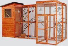 Outdoor Bird Aviary.. with a house that I could insulate for winter time