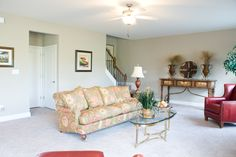 The living room of the Cavanaugh II floor plan by Ball Homes.