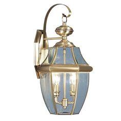 Livex Lighting Monterey Antique Brass Outdoor Wall Lantern 2251-01
