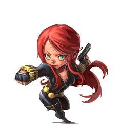 Black Widow - chibi :)
