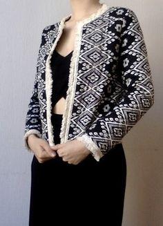 A vendre sur  vintedfrance  veste  penneys  noiretblanc  motifs  printemps a661ad107c4
