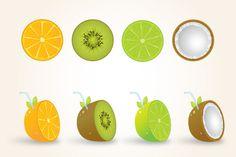 4 Vector Fruits