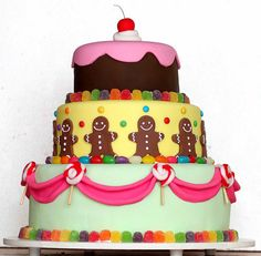 Candy Cake for when my kids have Candyland Birthday parties!!