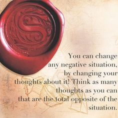 change any negative situation