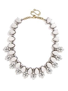 simple white statement necklace