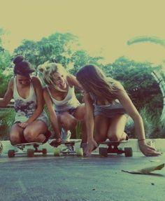 du und deine Freundinnen #girls #skaten