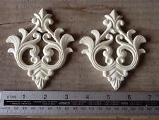 ONE PAIR OF PRETTY RESIN VINTAGE CHIC MOULDINGS/DECORATIVE FURNITURE/CHALK PAINT
