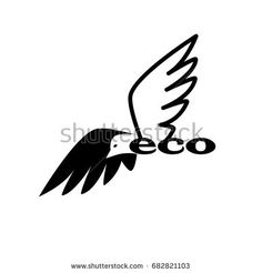 Wings vector logo design template. Eco concept symbol icon. Company logo, business emblem