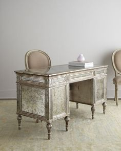 Sheridan Mirrored Desk - Horchow