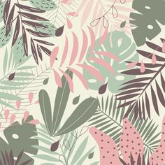 Abstract Iphone Wallpaper, Pastel Wallpaper, Cute Wallpaper Backgrounds, Cute Wallpapers, Wallpaper Tumblrs, Tropical Art, Posca, Pattern Illustration, Mural Art