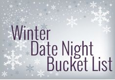 Winter Date Night Bucket List #Relationships #Trusper #Tip